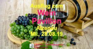 Ausflug zum Weinpavillion Alzenau
