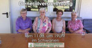Jahreshauptversammlung @ Zum Schwanen