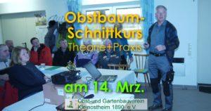 Obstbaumschnittkurs in Theorie und Praxis @ Vereinsheim im Freizeitgelände