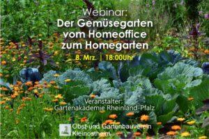 Webseminar: Der Gemüsegarten - vom Homeoffice zum Homegarden