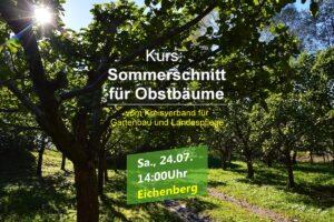 Sommerschnittkurs des Kreisverbandes in Eichenberg @ Obstwiese Geflügelhof Ziroff,