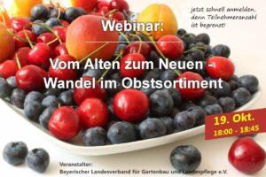 Webinar: Vom Alten zum Neuen - Wandel im Obstsortiment