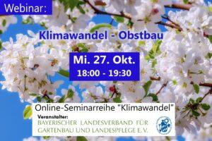 Klimawandel – Obstbau (Online-Seminar) @ Onlineseminar / Webinar