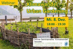 Klimawandel – Urban Gardening (Online-Seminar) @ Onlineseminar / Webinar