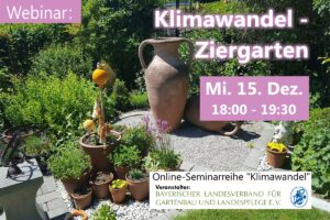 Klimawandel – Ziergarten (Online-Seminar) @ Onlineseminar / Webinar